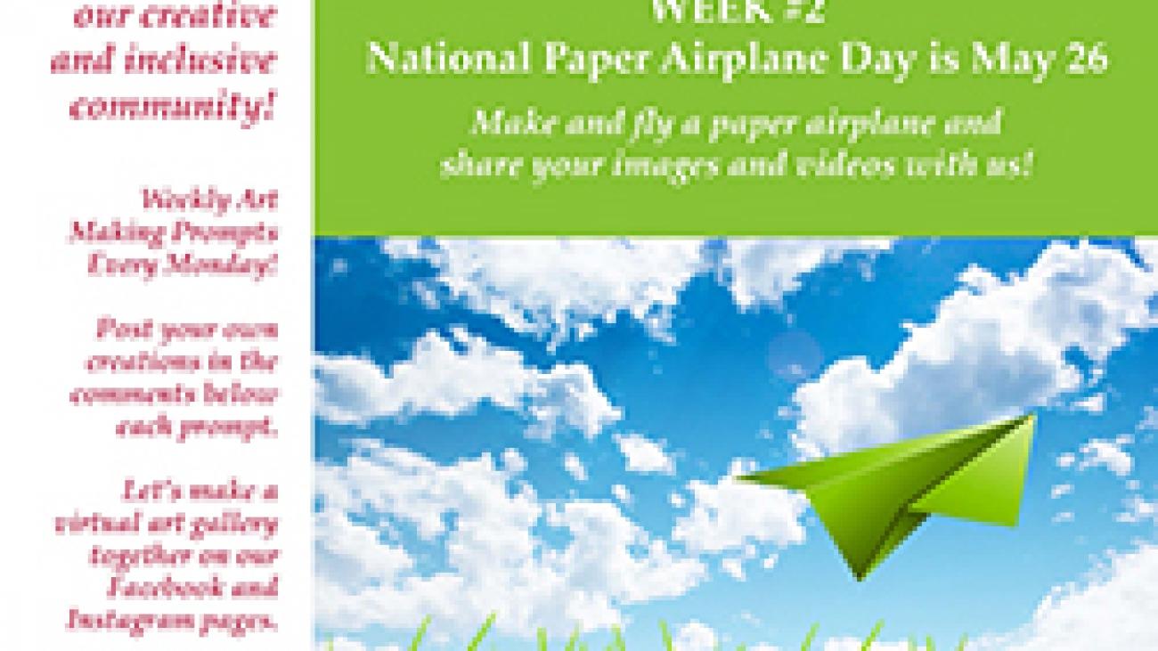 Paper Airplane ValleyCAST Art Prompt Week 2