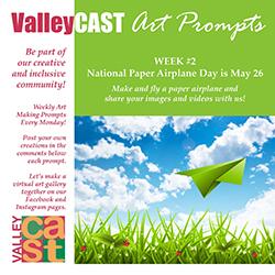 Paper Airplane ValleyCAST Art Prompt
